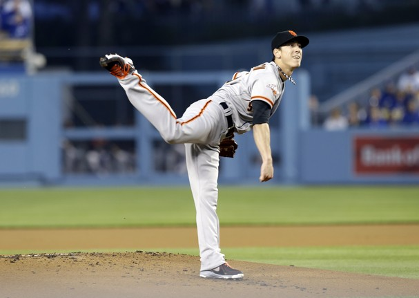 Lincecum walked 7 (in five innings), but still got the win against the Dodgers