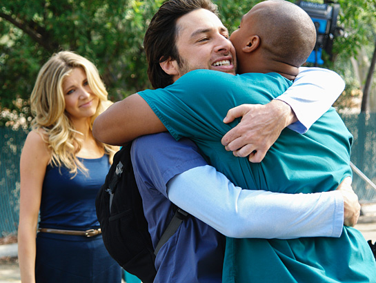 sarah-chalke-zach-braff-donald-faison-scrubs-tv-my-finale-season-finale-2009-photo-GC