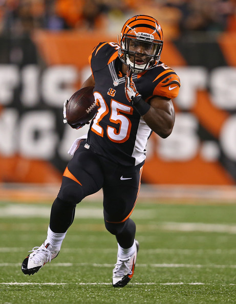 A breakout rookie for me in 2013, he's the man in the backfield for the Bengals and his numbers will reflect it