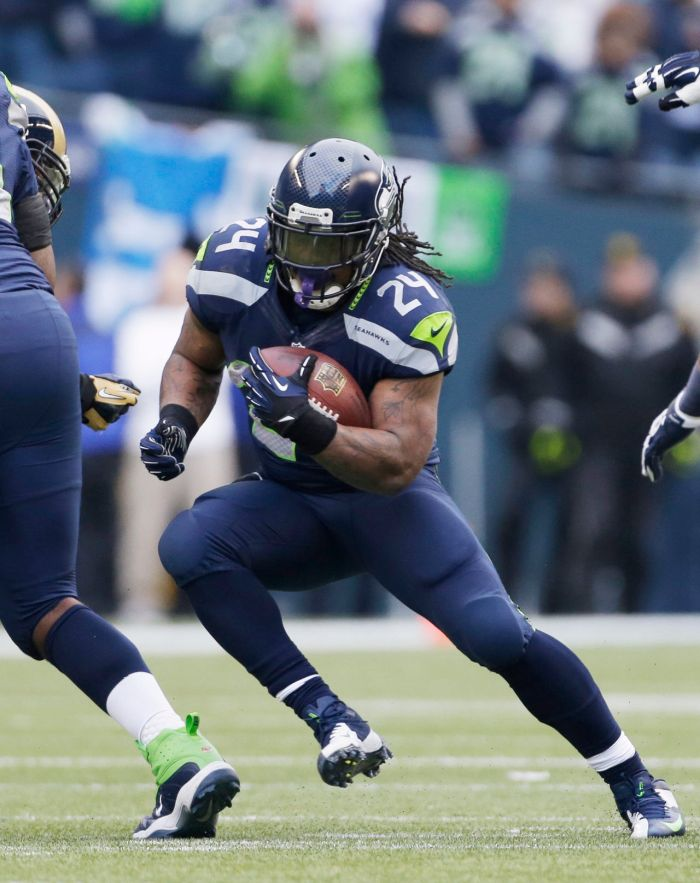 Marshawn Lynch is just one of the many contract issues the Seahawks must juggle this offseason.