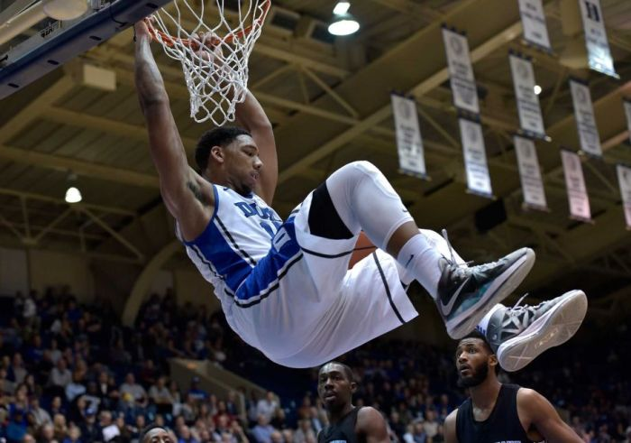 Jahlil Okafor is a standout meeting for Duke University and projected top-5 pick in this Summer's NBA Draft