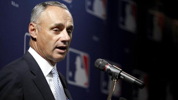 Rob Manfred took over as the 10th commisioner in Major League Baseball history on January 25th, 2015. (Ricardo Arduengo/Associated Press)