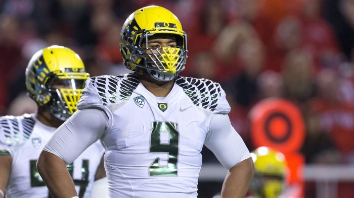 Arik Armstead was chosen 17th overall by the San Francisco 49ers in the 2015 NFL Draft