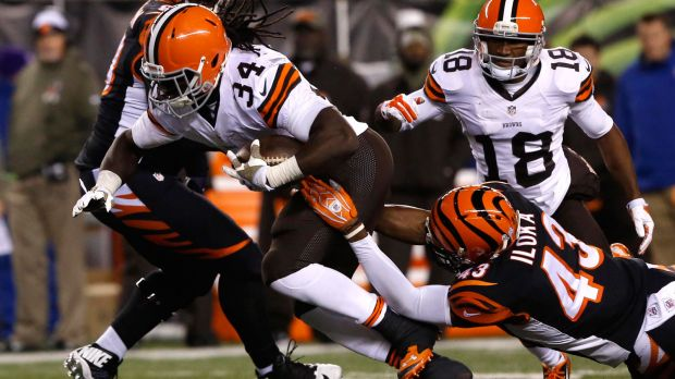 Isaiah Crowell had an even more effective 2014 than his numbers (607 yards, 8 TD, 4.1 YPC) indicated and he's in line to be the feature back in Cleveland.