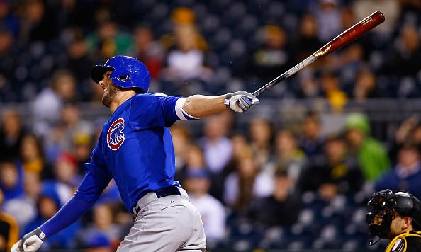 Kris Bryant, 23, has an On-Base Percentage of .384 to go with his 10 home runs, 42 RBI, and .860 OPS