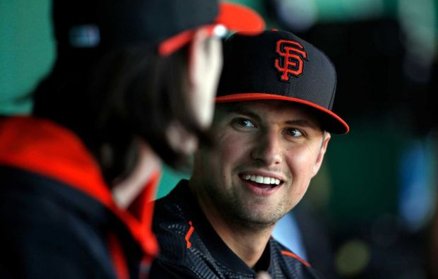 Joe Panik was inserted into the Giants starting lineup just before their World Series run in 2014. He's an All-Star in 2015, and a First-Half All-Star here as well.(Photo By: Scott Strazzante)
