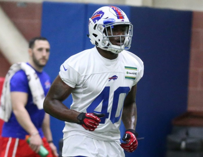 Karlos Williams has climbed to No. 2 on the Bills running back depth chart. I see him climbing further before the year is over. (James P. McCoy/Buffalo News)
