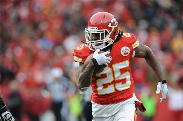 Jamaal Charles is Kansas City's most potent offensive weapon, and if Andy Reid has his way he'll be that way when the games count in January. (Photo By/Denny Medley-USA TODAY Sports)