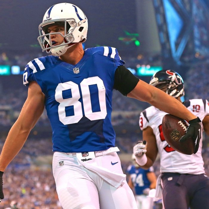 I've officially decided Colby Fleener, despite being less talented, is the Tight End to own forever in Indianapolis.