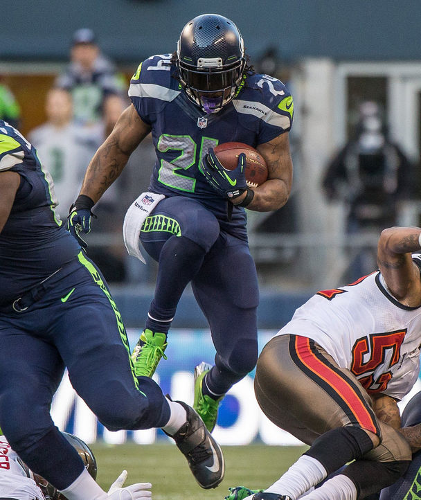 "We haven't seen ""Beast Mode"" yet in 2015, but I have a feeling we're close. (Photo: The Seattle Times)"
