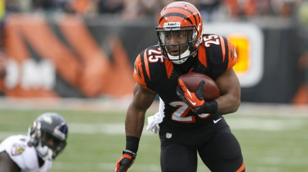 Gio Bernard (439 RuYards, 141 ReYards, 2 touchdowns) looks like a strong play tonight against a Cleveland Browns team that has been generous to the position all season.