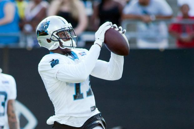 The Panthers' Devin Funchess caught three passes for 71 yards and a touchdown Sunday